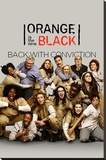 Orange Is The New Black Stretched Canvas Print