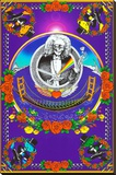 Deadheads Over The Golden Gate (Blacklight Poster - No Flocking) Stretched Canvas Print