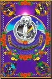 Deadheads Over The Golden Gate (Blacklight Poster - No Flocking) Reproducción de lámina sobre lienzo