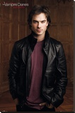 Vampire Diaries - Damon (Ian Somerhalder) Television Poster Sträckt Canvastryck