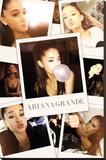 Ariana Grande- Selfies Collage Reprodukce na plátně