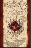 Harry Potter- Marauder'S Map Lærredstryk på blindramme
