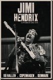 Jimi Hendrix - Copenhagen Pingotettu canvasvedos