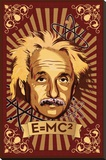 Einstein Mural Stretched Canvas Print