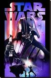 Star Wars - Darth Vader Lightsabre - Şasili Gerilmiş Tuvale Reprodüksiyon