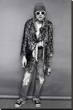 Kurt Cobain Standing Stretched Canvas Print