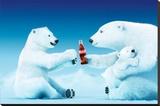 Coca-Cola - Polar Bear Trio Płótno naciągnięte na blejtram - reprodukcja