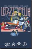 Led Zeppelin Remains Bedruckte aufgespannte Leinwand