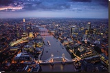 Jason Hawkes - London Stretched Canvas Print by Jason Hawkes
