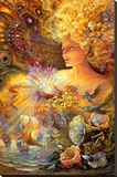 Crystal Of Enchantment Stretched Canvas Print by Josephine Wall