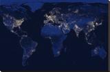 The World at Night Płótno naciągnięte na blejtram - reprodukcja