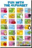 EDUCATIONAL - Alphabet - Şasili Gerilmiş Tuvale Reprodüksiyon