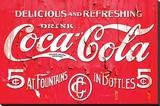 Coca Cola Logo Stretched Canvas Print