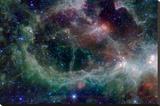 Heart Nebula in Cassiopeia Constellation Space Lærredstryk på blindramme