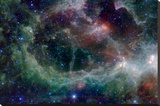Heart Nebula in Cassiopeia Constellation Space - Şasili Gerilmiş Tuvale Reprodüksiyon