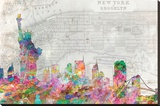 NYC Skyline- Color Stretched Canvas Print