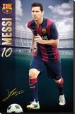 Barcelona - Messi 14/15 Trykk på strukket lerret