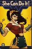 Dc Comics Bombshells Wonder Woman Reproducción en lienzo de la lámina