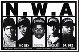N.W.A Stretched Canvas Print