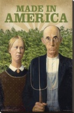 American Gothic- Made In America Stretched Canvas Print