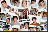One Direction - Polaroids Stretched Canvas Print