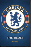 Chelsea FC Club Crest Stretched Canvas Print