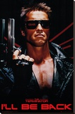 The Terminator - I'll Be Back Stretched Canvas Print