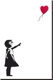 Balloon Girl Banksy Stretched Canvas Print