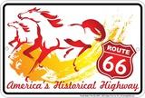 Route 66 the Horse Plakietka emaliowana
