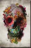 Flower Skull - Şasili Gerilmiş Tuvale Reprodüksiyon