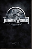 Jurassic World Logo Teaser Stretched Canvas Print