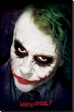 The Dark Knight - Joker Face Stretched Canvas Print