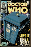 Doctor Who Tardis Comic Stretched Canvas Print