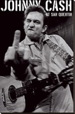 Johnny Cash, San Quentin-portrett Trykk på strukket lerret