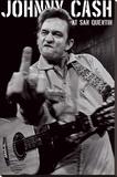 Johnny Cash- San Quentin Portrait Stretched Canvas Print