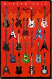Guitar Hell - The Axes of Evil Stretched Canvas Print