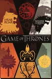Game of Thrones House Sigils Television Poster Stretched Canvas Print