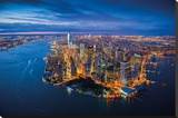 Jason Hawkes - New York Stretched Canvas Print by Jason Hawkes