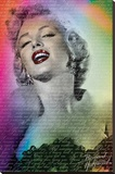 Marilyn Monroe Words Stretched Canvas Print