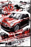 Rallye Monte Carlo (Automotive Race) Art Poster Print Sträckt kanvastryck
