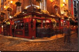 Dublin - Temple Bar Stretched Canvas Print