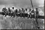 Almuerzo en lo alto de un rascacielos, c.1932 Reproducción en lienzo de la lámina por Charles C. Ebbets
