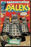 Doctor Who- Daleks Comic Cover Lærredstryk på blindramme