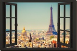 View From A Paris Window Stretched Canvas Print