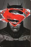 Batman Vs Superman Batman Teaser Stretched Canvas Print