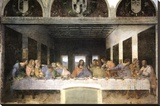 Last Supper Stretched Canvas Print by  Leonardo da Vinci