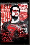 Batman vs. Superman- Superman False God Lærredstryk på blindramme