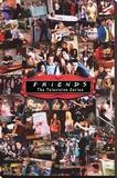 Friends- Collage - Şasili Gerilmiş Tuvale Reprodüksiyon