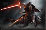 Star Wars- Kylo Ren Crouch Reproduction sur toile tendue
