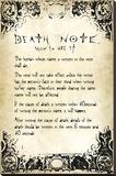 Death Note- User Rules Lærredstryk på blindramme